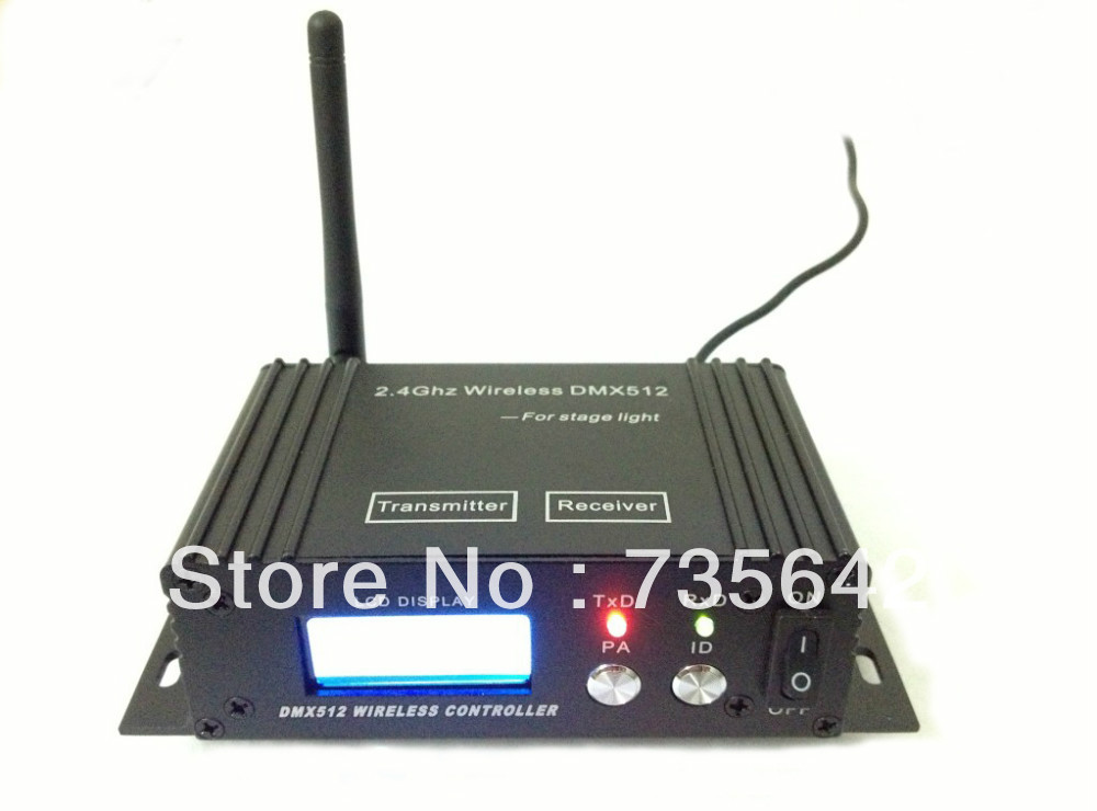 DHL Free Shipping 12PCS DC9-12v LCD wireless DMX512 receiver/ transmitter dmx controller(China (Mainland))
