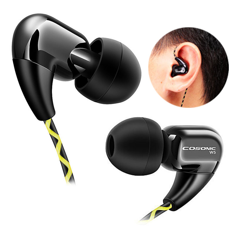 Headphone Sport Earphone For Mobile Phone Running Headset with microphone HIFI Retail Box MP3 earhook W5(China (Mainland))