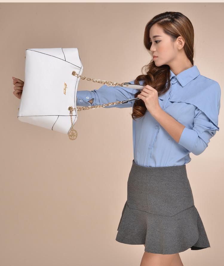 European And American Fashion Luxury Women Leather Bats Bag Designer