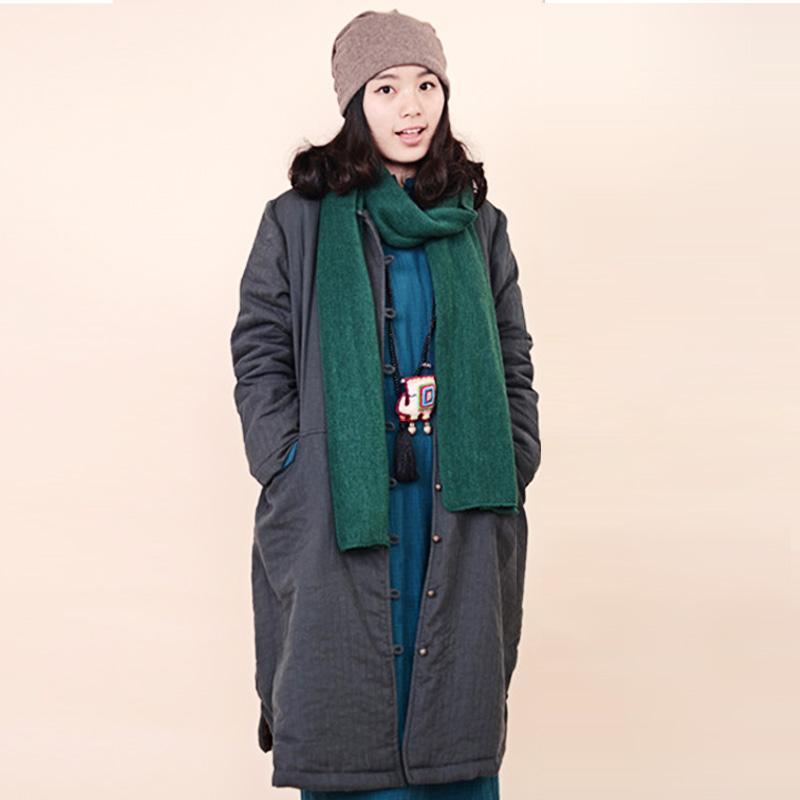 Здесь продается  2015 New Cotton Line Women Chinese-style Original Design Literary Single Breasted Solid Color Casual Loose Coat  Одежда и аксессуары