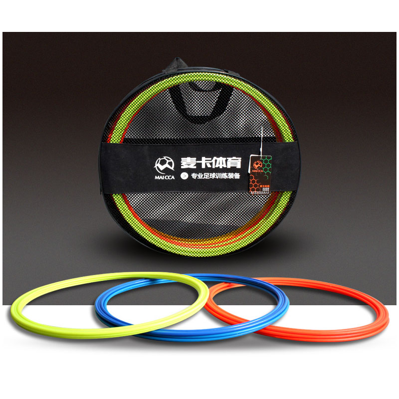 MAICCA Soccer speed ring with carry bag agility rings football training equipment Physical pace lap 40cm 12 pcs pack(China (Mainland))