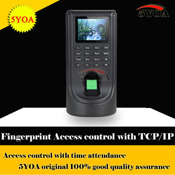 Biometric Fingerprint Access Control Attendance Machine TCP IP Digital Electric Reader Scanner Sensor Code System For Door Lock(China (Mainland))