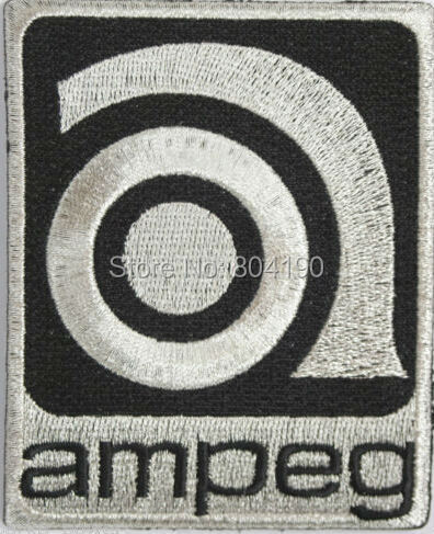 "3.5"" Vintage Style Ampeg Logo Music Band Iron On Patch Heavy Metal Tshirt TRANSFER MOTIF APPLIQUE Rock Punk Badge(China (Mainland))"