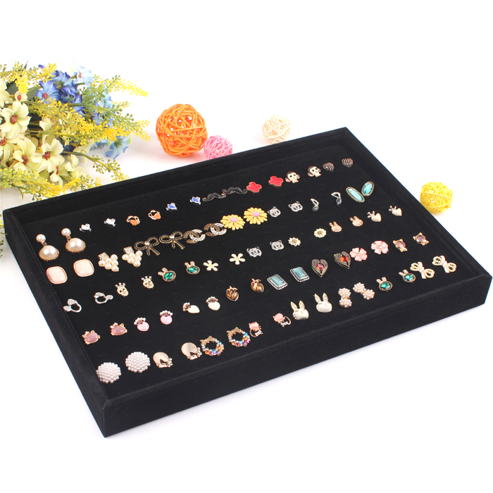A185-2 Hot sell Organizer Show Case Jewelry Display Rings Holder Box stand for earrings jewelry holder organizer(China (Mainland))