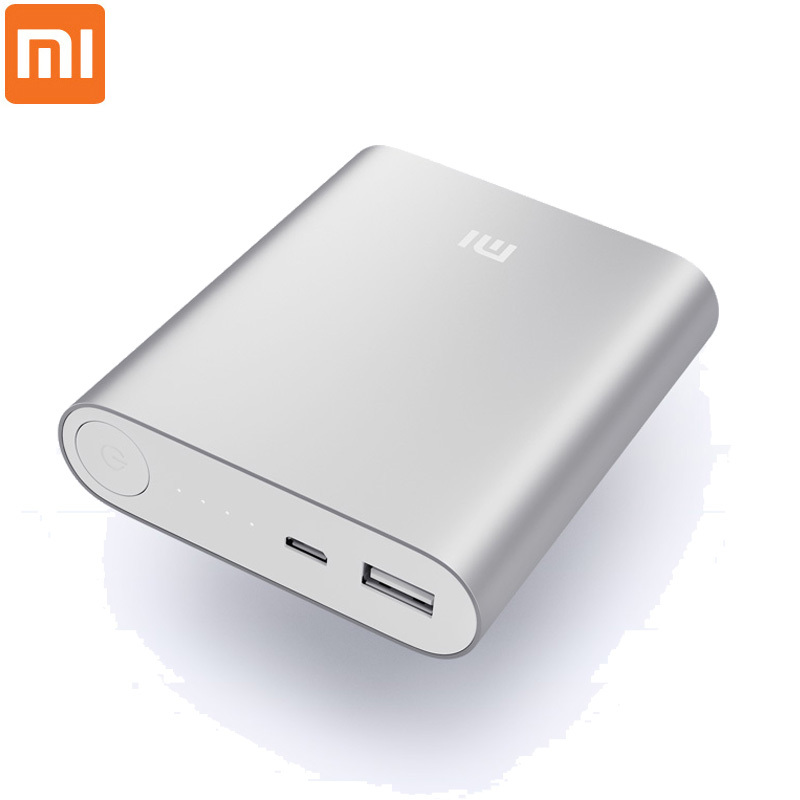 Original Xiaomi Power Bank 10400mAh Portable Charger Aluminium Alloy Powerbank 18650 Cell Dual USB Xiaomi Mi Battery 10400mAh(China (Mainland))