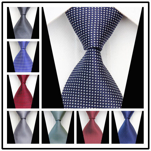 CON54 Mens Ties 2015 New Man's Fashion Accessories Dot Stripe Classic Silk Polyester Necktie Business Casual Knitted Neckties(China (Mainland))