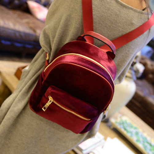 Women Mini Backpack Cute Solid Leather Small Rucksack Laptop Bag Back Pack Shoulder Straps For Teenage Girls/Kids(China (Mainland))