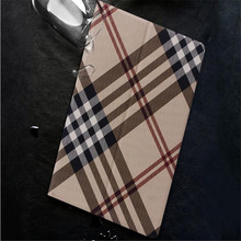 New arrive Scottish style plaid leather cover for ipad mini 1 2 3 4 tablet case with sleep stand(China (Mainland))