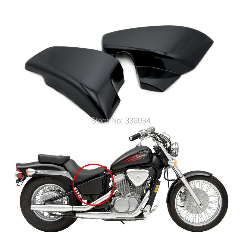 Фотография New Motorcycle Black Battery Side Covers Kit For Honda Shadow VLX Deluxe VT600CD 2006 2007