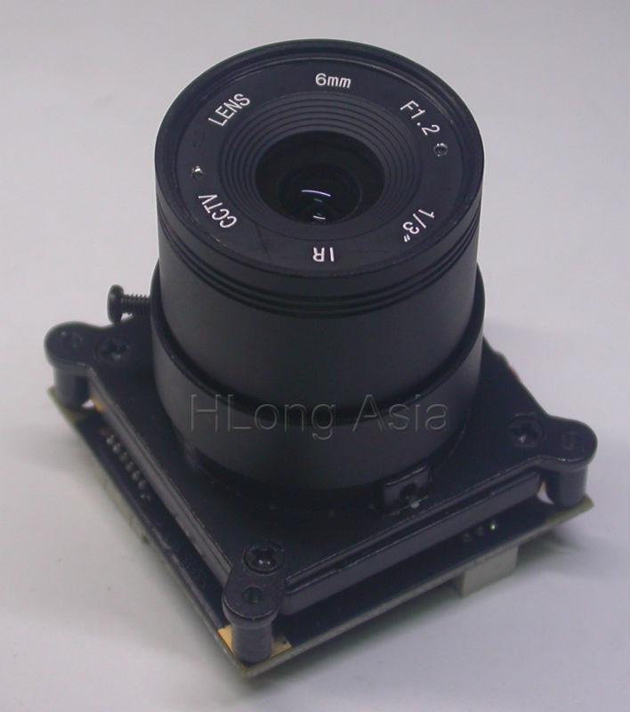 "Super night vision 700TVL 1/2"" MCCD BG0605 sensor FH8520 DSP CCTV camera module chip board with OSD cable + IRC + CS 6mm LEN(China (Mainland))"