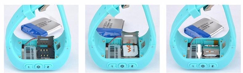 ถูก FineFun S Mart W Atchเด็กนาฬิกาQ50 2กรัมซิมGSM GPRSติดตามตำแหน่งGPSป้องกันการสูญหายเด็กนาฬิกาสำหรับIOS Android Q60