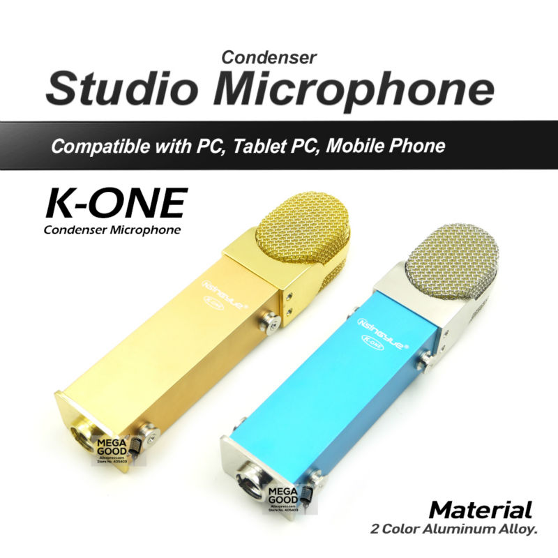 2016 Hot Sale K-ONE High Quality Professional Condenser Sound Studio Recording Microphone with Shock Mount for Radio KTV Karaoke(China (Mainland))