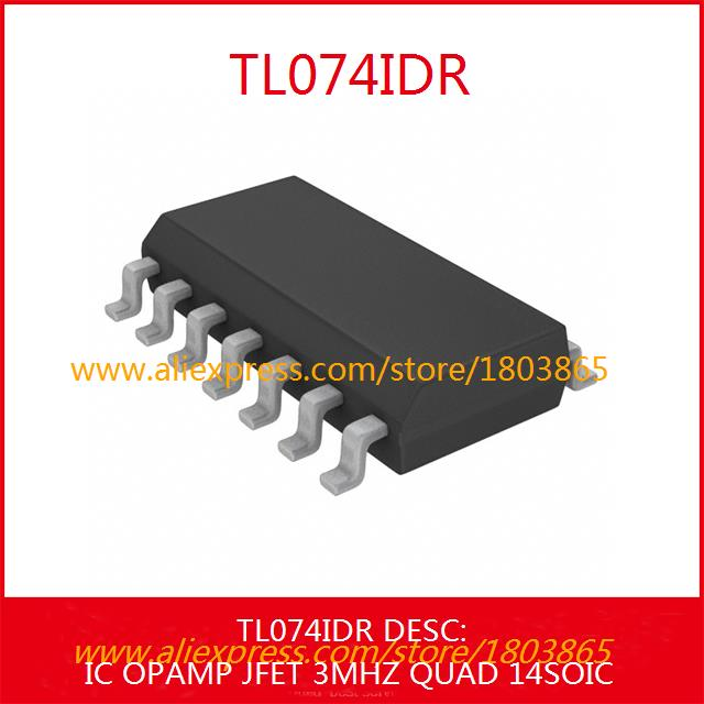 Free Shipping Integrated Circuits Types TL074IDR IC OPAMP JFET 3MHZ QUAD 14SOIC 074 TL074 5pcs(China (Mainland))