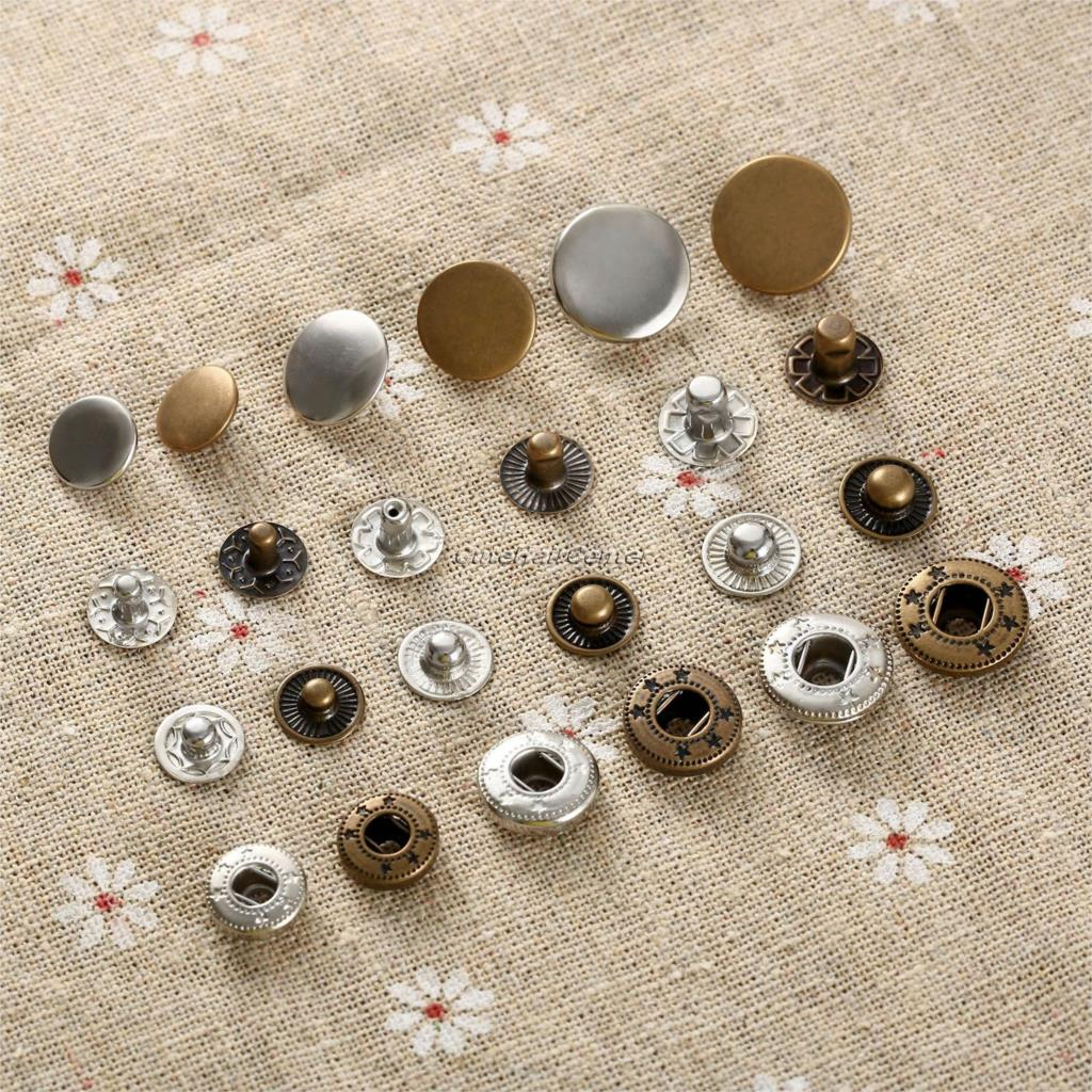 Hot 50pcs Rapid Rivet Button Snap Fasteners For Clothing Bags Shoes Leather Decorative Craft Combined Button 10mm/12.5mm/15mm(China (Mainland))