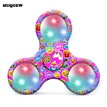 Buy LED Light Fidget Spinner Finger Plastic EDC Hand Spinner Autism ADHD Relief Focus Anxiety Stress Wheel Toys Adult Kids Gift for $1.97 in AliExpress store