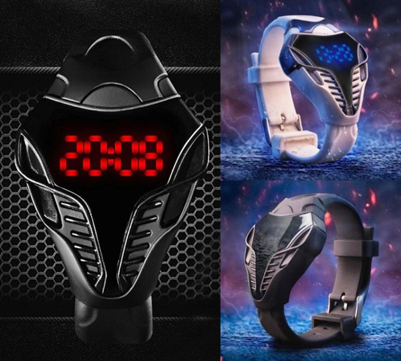 New Arrival Waterproof Cobra wristwatch Touch Screen Digital Watches Men Women led watch Male Military Wristwatches