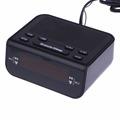 Modern Design Compact Digital Alarm Clock FM Radio And Dual Alarm Buzzer Snooze Sleep Function Red