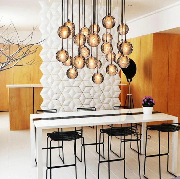 Здесь продается  Modern LED Crystal Chandelier Light Fixture Magic 18 Crstal Ball lustre Loft Stairwell Crystal Light Meteor Shower Cristal Lamp  Свет и освещение