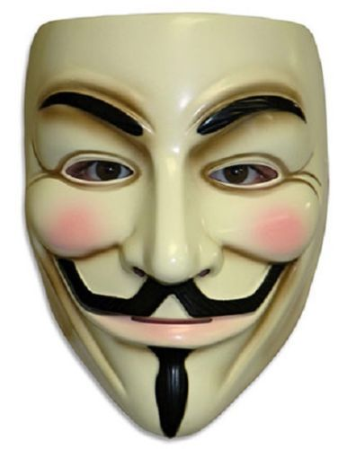 V for Vendetta Mask Anonymous Guy Fawkes Fancy Dress Adult Costume Accessory party mask(China (Mainland))