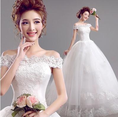 2017 Free New Line Lace Sweetheart Short Sleeve White Satin Bridal Wedding Dress Wedding Gown Vestido De Noiva 30217