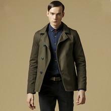 British Stylish Men Trench Coat Jaqueta Masculina Fashion Sobretudo Masculino Casacos Men Casual  Slim Fit Jacket  Coat(China (Mainland))