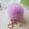 Hot Fur Pom Pom Key Chain Fluffy Keychain Chaveiro Keychain Faux Rabbit Hair Bulb Bag Car