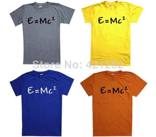 Big Bang Theory Shirt E=MC2 T-shirt Tee More Colors mens womens(China (Mainland))