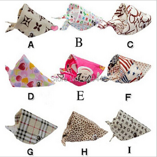 Wholesale Bape Brand With Paragraph 15 Kinds Of Style Letters / Monkey / Plaid /Dog Grooming Everyday Pet Dog Cat Bandanna Scarf(China (Mainland))