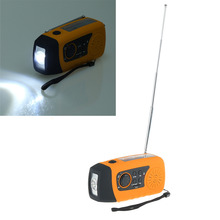 Emergency Solar Hand Crank FM Radio MP3 Player Flashlight Smart Cell Phone Charger w USB Cable
