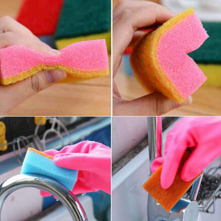 Colorful Magic Sponge Eraser Kitchen Toilet Household Cleaning Sponges Scouring Pads Cleaner Free Shipping 7x2.8x10CM(China (Mainland))