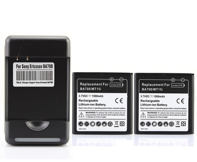 2x 1800mAh BF5X Battery + Charger For Motorola Defy,MB525,ME525 MB520,Bravo XT862 (Droid 3) Photon 4G,MB855 XT531