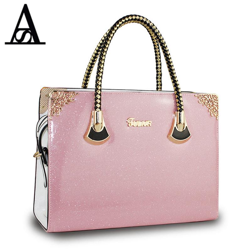 AITESEN New Candy Color Bags Jelly Tote Shiny Shoulder Messenger Bags Women Handbag Female Large Tote Bolsas Feminina Sac A Main(China (Mainland))