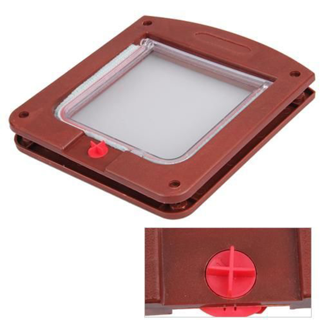 Durable Plastic 4 Way Cat Dog Small Waterproof Pet Locking Door Flap(China (Mainland))