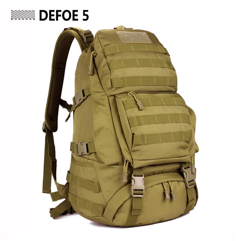 FREE SHIPPING Men Women Unisex Outdoor Military Tactical Backpack CampHiking Bag Rucksack 45L MOLLE Large Big Ergonomic Gear(China (Mainland))
