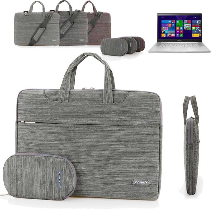 15.6'' Laptop Sleeve Shoulder Bag, Computer Suit Portable Carrying Case Briefcase Handbag For Asus ZenBook NX500/ Pro UX501 15''