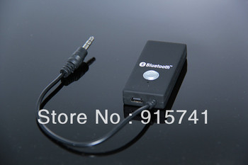 2013 Newest  Wireless Bluetooth  Receiver Stereo HiFi A2DP Stereo Audio Dongle Adapter Connector 3.5mm Receiver Free shipping