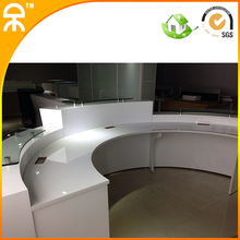 3.35meter (10.8 ft) white high gloss lacquer Information register table for 4 peoples #QT3316(China (Mainland))