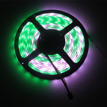 colorful led 5M (48 LEDs 16 Pixels) /M DC 12V WS2801 RGB LED Strip IP67 Waterproof White PCB(China (Mainland))