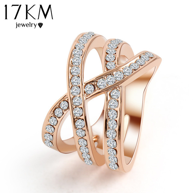 Romantic Classic Luxury Net Weaving Crystal Ring Cubic Zirconia Ring Finger Rings Birthday Gifts Jewelry For Women 2015 M12(China (Mainland))