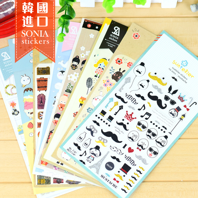 5pcs lot korea book deco scrapbooking stickers decorative for Stickers murs deco