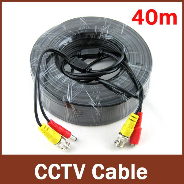 !Free Shipping!1pcs, 40M Video&Power CCTV Cable, BNC+DC(BNC female plug+DC male plug cable), Use For Surveillance CCTV Cameras(China (Mainland))