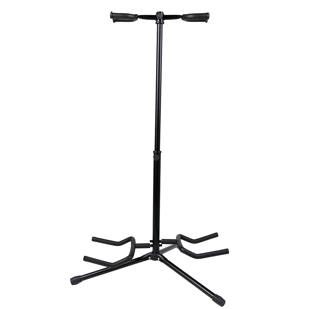 Double Guitar Stand Detachable Folding Adjustable for Acoustic Electric Guitar Bass(China (Mainland))