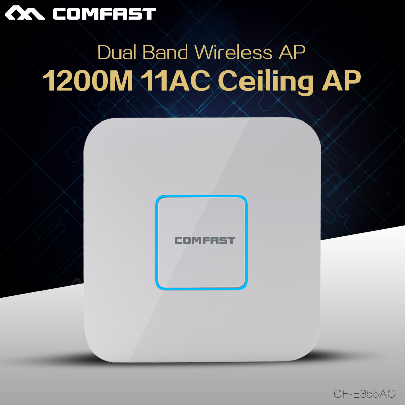 Comfast 1200Mbps WiFi Mini Router Ceiling ap Dual Band 2.4+5.8G Access Point gigabit Router 802.11ac WIFI Repeater ddwrt Openwrt(China (Mainland))
