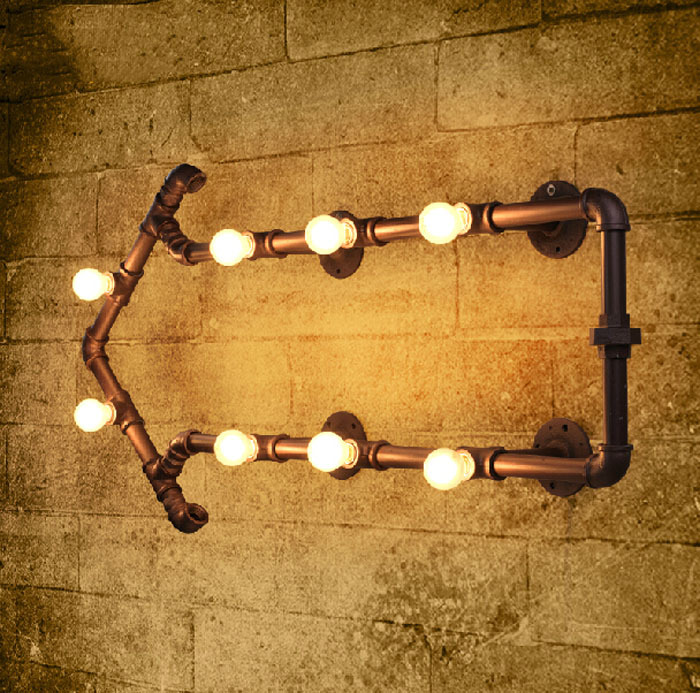 Wall Lamp Bar : lamp toshiba Picture - More Detailed Picture about Industrial Rustic Steampunk METAL PIPE Lamp ...