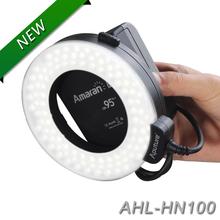 Aputure HN100 CRI 95+ Amaran Halo LED Ring Flash light  For Nikon D7100 D7000 D5200 D5100 D800E D800 D700 D600 D90 Camera(China (Mainland))
