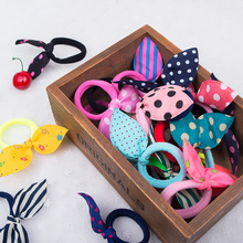 Buy 10PCS/lot Girls Headwear Mix Styles Bow Dot Elastic Hair Bands Rabbit Ears Hair Accessories Ponytail Holder Rubber Bands Ropes for $1.26 in AliExpress store