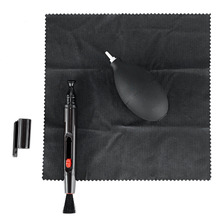Neewer Professional Black Cleaning Kit for DSLR and SLR Film Cameras:Lens Brush Pen Air Blower and Microfiber Cleaning Cloth(China (Mainland))