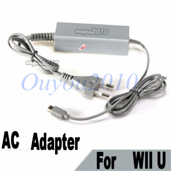 Best Promotion New EU UK US Type Plug Wall AC Adapter Power Charger For Nintendo For Wii U Gamepad Controller Free Shipping(China (Mainland))