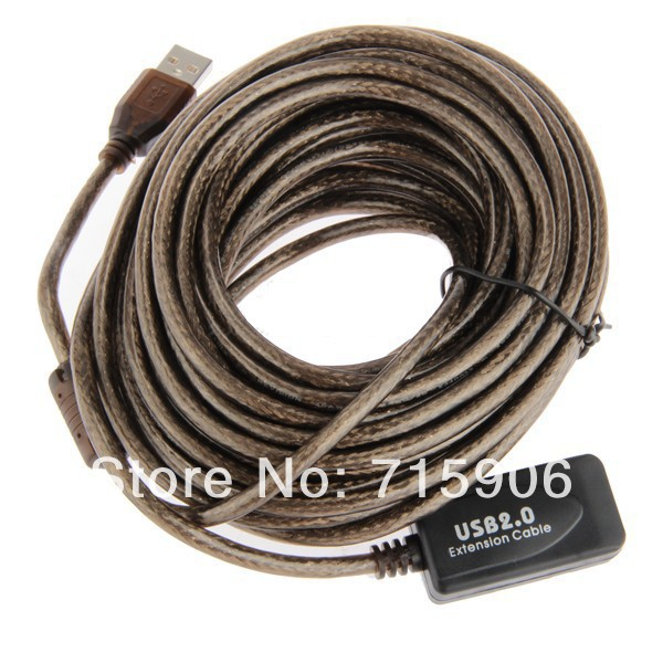 20pcs/lot 10m USB Active Repeater High Speed Extension Extender Cable Lead USB2.0 480Mbp(China (Mainland))