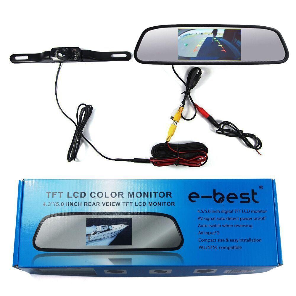 """Backup Camera and Monitor,4.3""""-inch Waterproof Backup Camera & Rear View Monitor tft-lcd Display Built-into Mirror Assembly(China (Mainland))"""